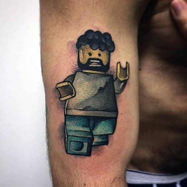 Male Cool Lego Tattoo Ideas