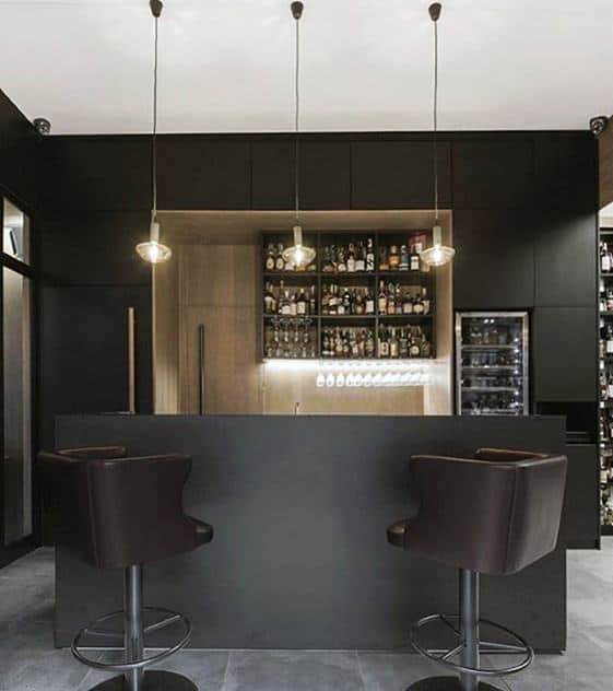 Male Cool Man Cave Ideas Contemporary Grey Color Bar