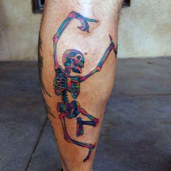 Male Cool Skeleton Grateful Dead Tattoo Ideas