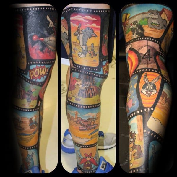 Male Cool Tom And Jerry Tattoo Ideas