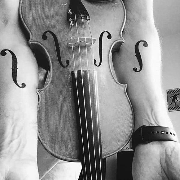 50 Violin Tattoo Designs For Men
