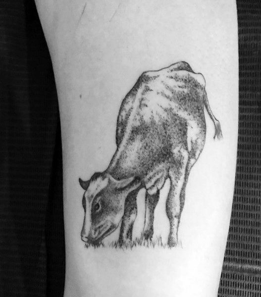 Male Cow Themed Tattoos