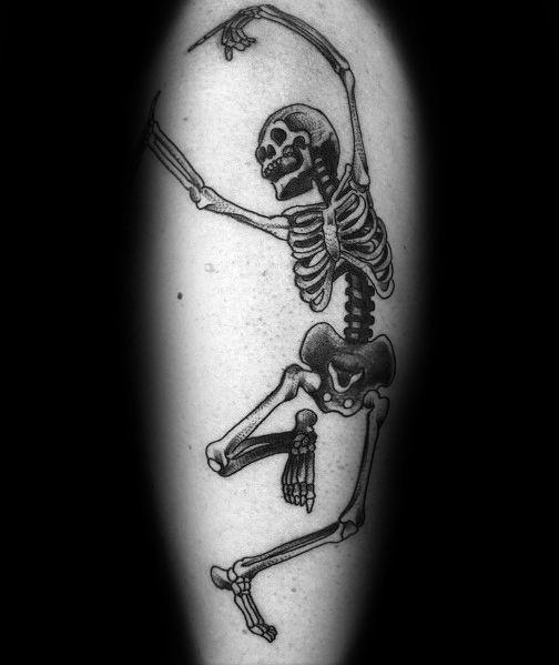 Male Dancing Skeleton Themed Tattoos