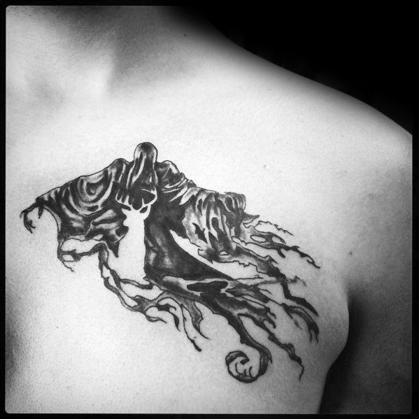 Male Dementor Tattoo Ideas