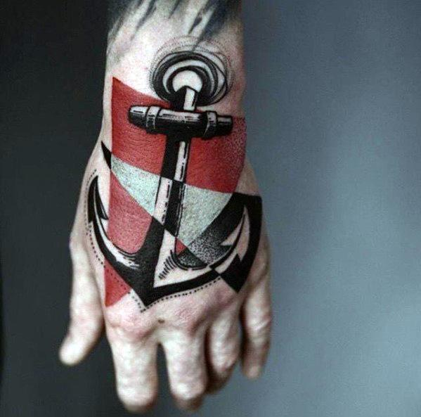 Male Dive Flag Themed Tattoos