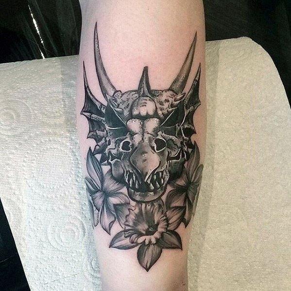 Male Dragon Skull Tattoo Ideas