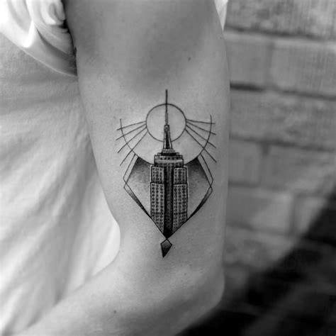Male Empire State Building Themed Tattoo Inspiration