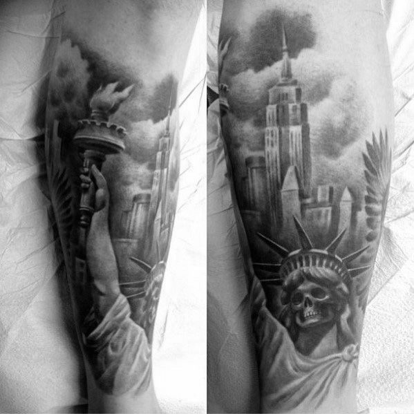 Male Empire State Building Themed Tattoos