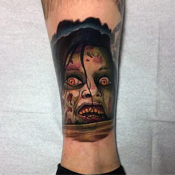 Male Evil Dead Tattoo Design Inspiration