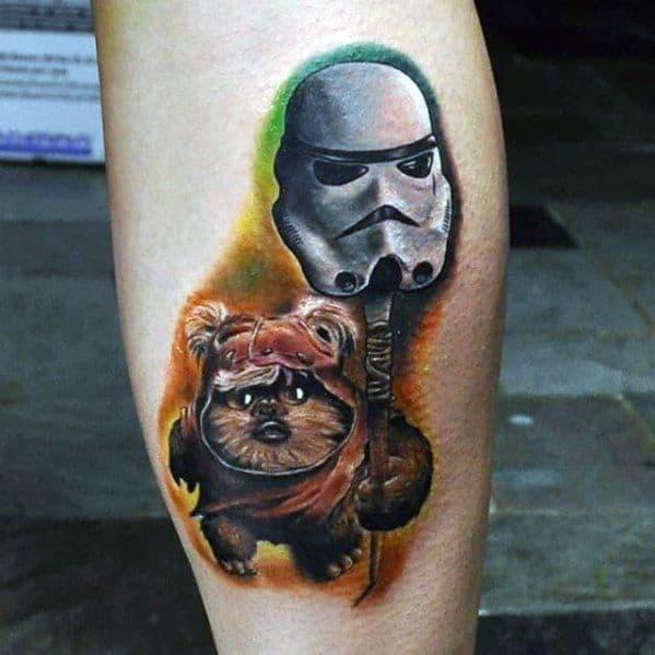 Male Ewok Tattoo Design Inspiration