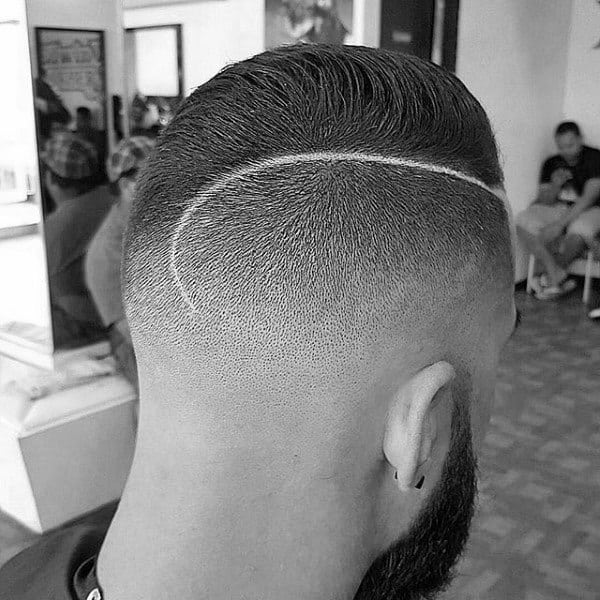 Male Fade Haircut With Comb Over