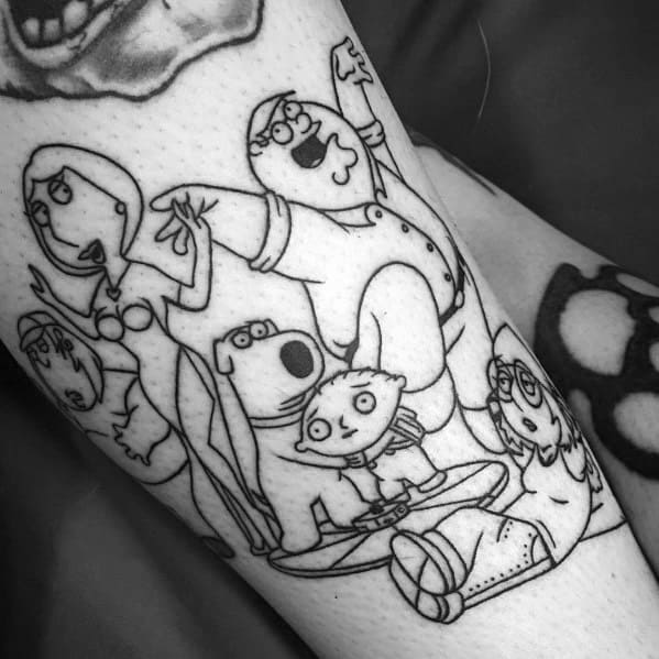 Male Family Guy Themed Tattoos