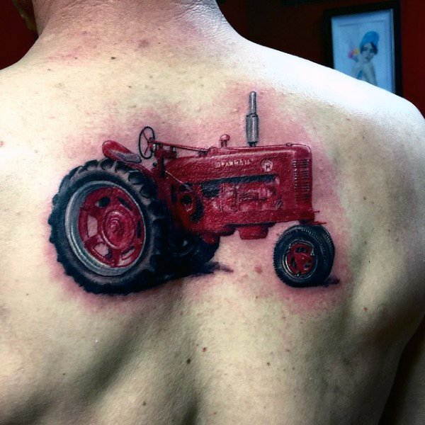 Male Farming Themed Tattoo Inspiration