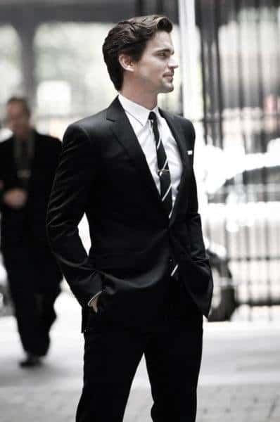 Male Fashion Black Suit Style Ideas