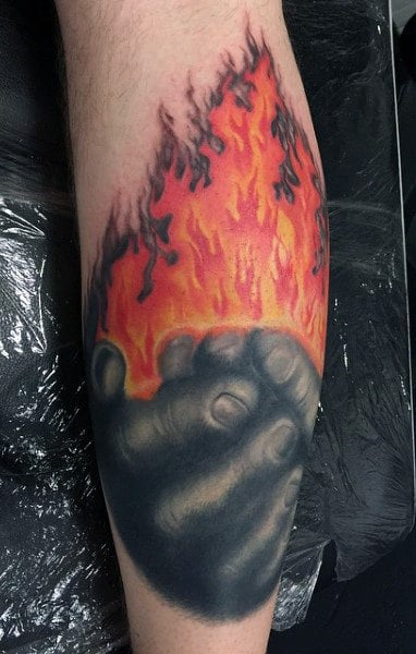 Male Flame Tattoo Meaning