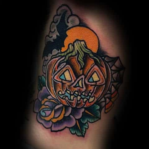 Male Forearm Halloween Tattoo