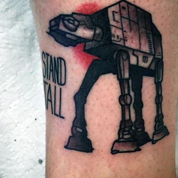 Male Forearm Stand Tall Star Wars Tattoo