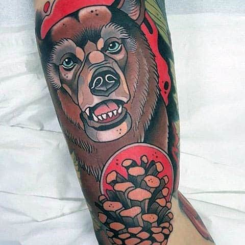 Male Forearms Amazing Neo Traditional Tattoo