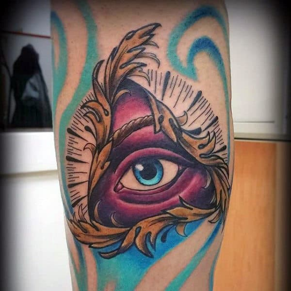 Male Forearms Beautiful Illuminati Tattoo