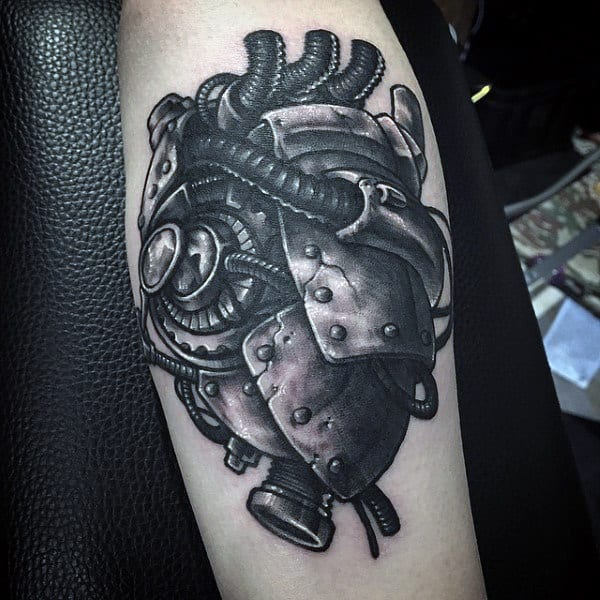 d1971d3f13050 75 Steampunk Tattoo Designs For Men - Masculine Machinery