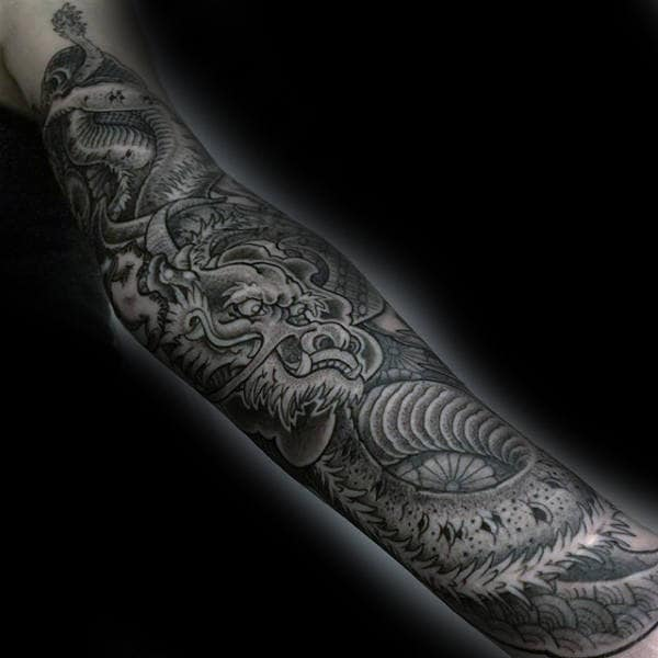 Male Forearms Brilliant Dotwork Tattoo