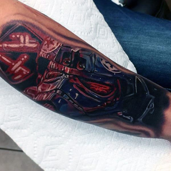 Male Forearms Gory Star Wars Tattoo