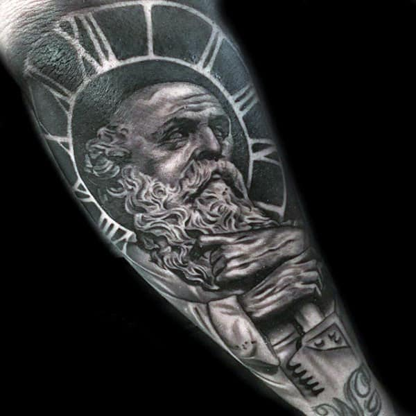 Male Forearms Grey Manly Tattoo