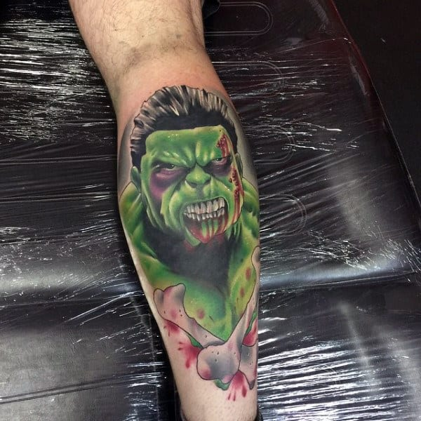 Male Forearms Hulk Bloody Tattoo