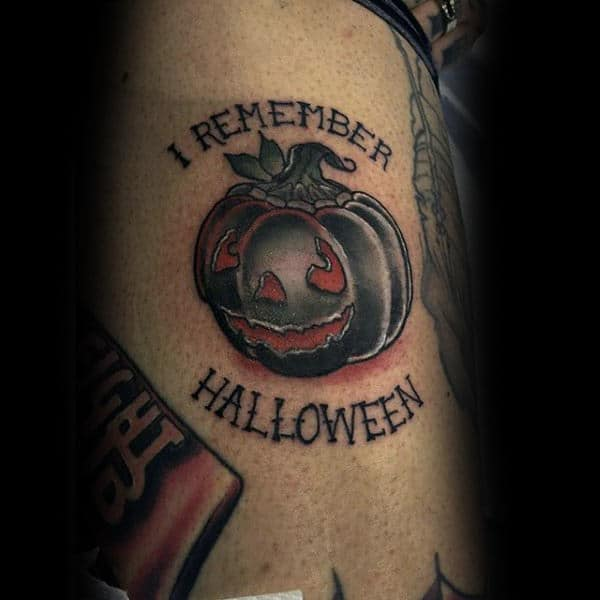 Male Forearms I Remember Halloween Tattoo