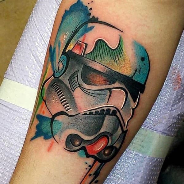 Male Forearms Star Wars Painted Tattoo