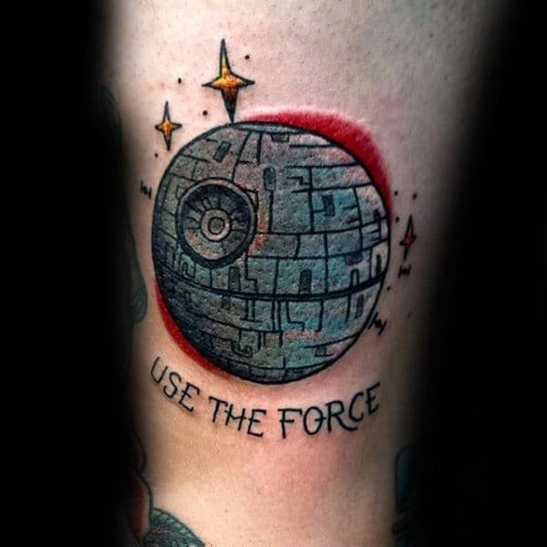 Male Forearms Use The Force Star Wars Tattoo