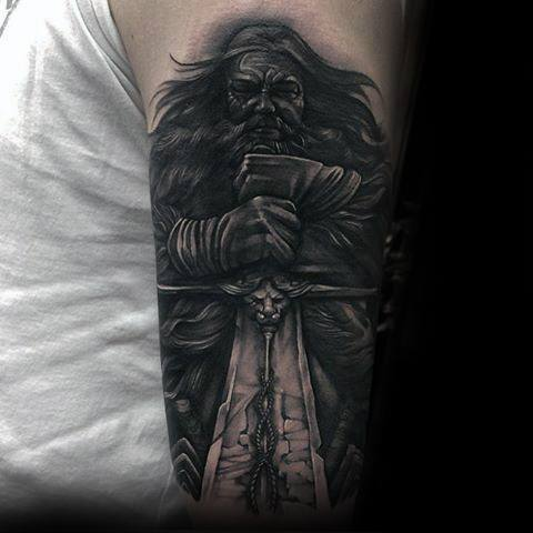 Male Game Of Thrones Sword Arm Tattoo Ideas