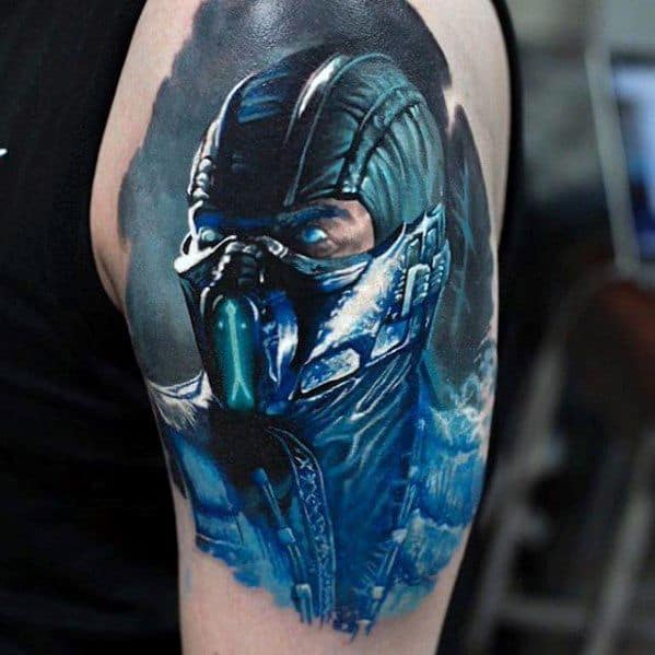 Male Gamer Tattoo Ideas On Arm With Realistic Design