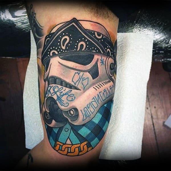 100 stormtrooper tattoo designs for men star wars ink ideas. Black Bedroom Furniture Sets. Home Design Ideas