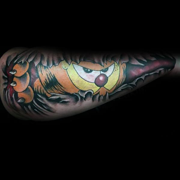 Male Garfield Themed Tattoos