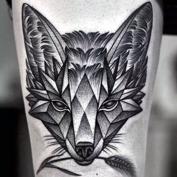 Male Geometric Animal Tattoo Design Inspiration