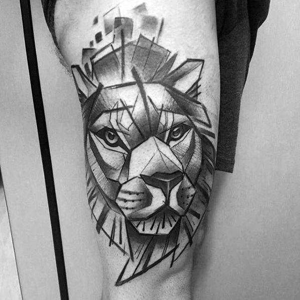 Male Geometric Animal Tattoo Ideas