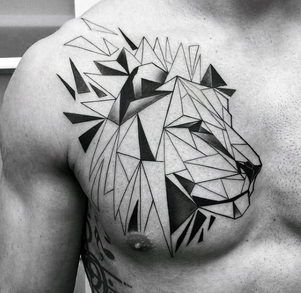 Male Geometric Animal Tattoo