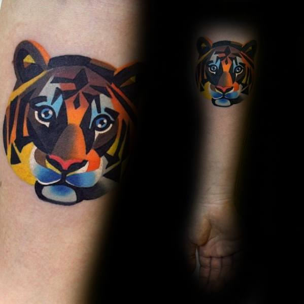 Male Geometric Tiger Tattoo Ideas