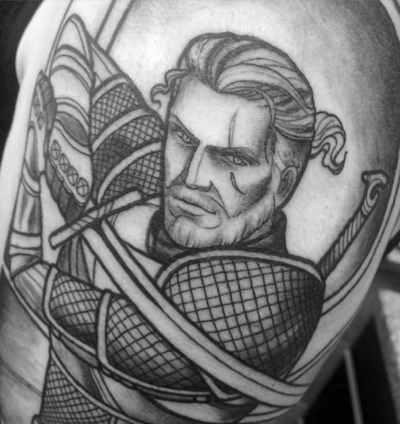 Male Geralt Themed Tattoos
