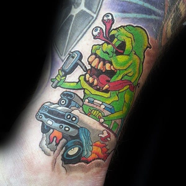 Male Ghostbusters Tattoo Ideas On Arm