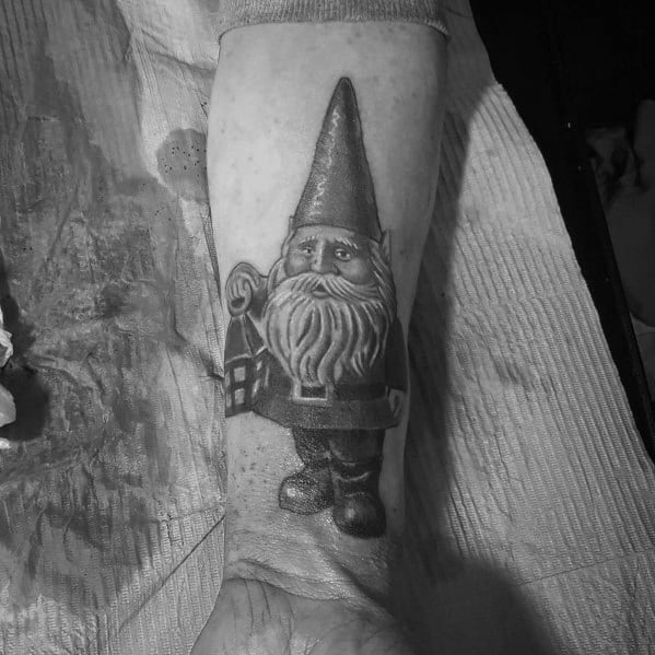 Male Gnome Themed Tattoos