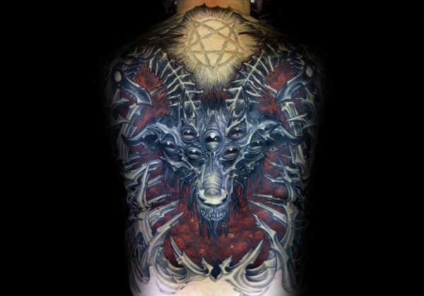 Male Gothic Themed Tattoos
