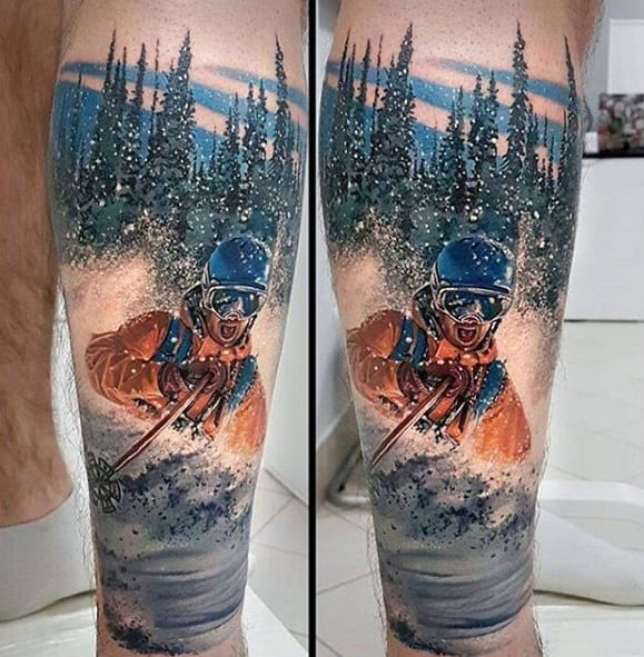 Male Greatest Tattoo Design Ideas On Lower Leg