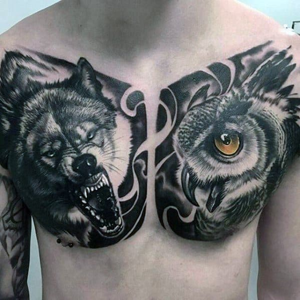 Male Greatest Tattoo Design Inspiration On Chest
