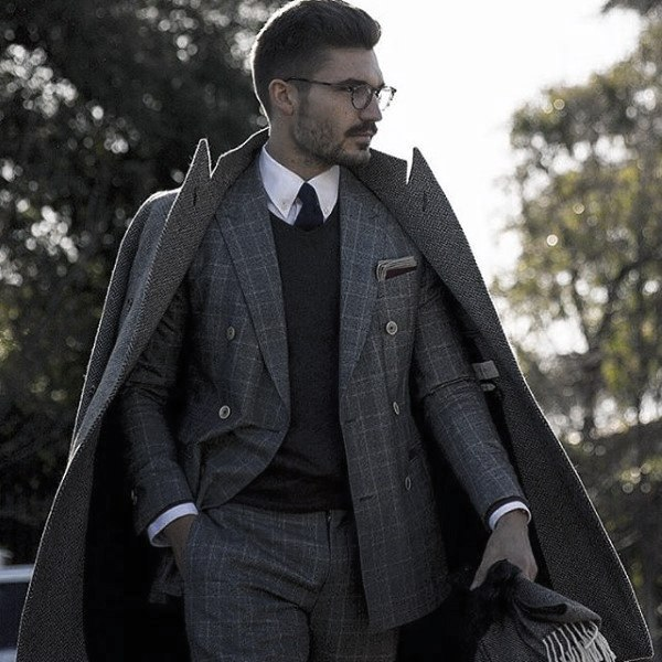 Male Grey Suit Style