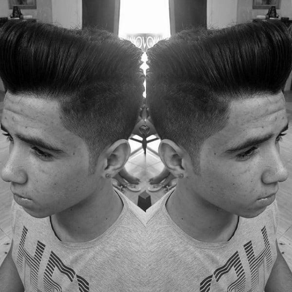 Male Haircut For Pompadour