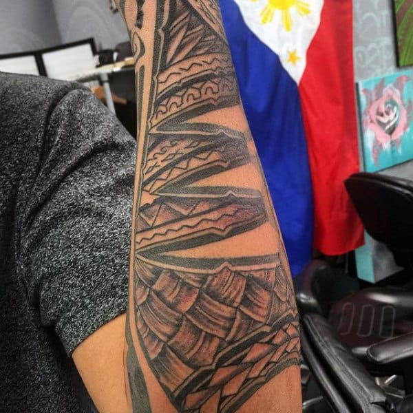 Male Hawaiian Half Sleeve Tattoos