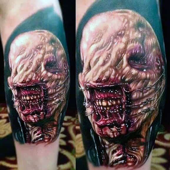 Male Hellraiser Themed Tattoo Inspiration