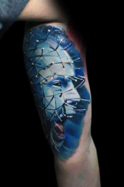 Male Hellraiser Themed Tattoos